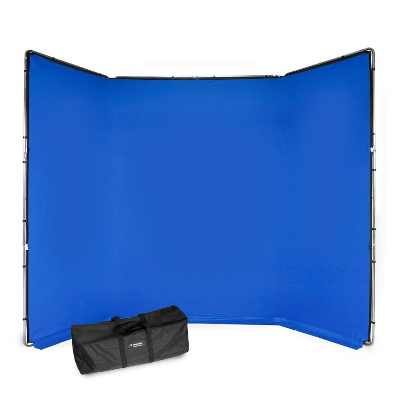 chroma key fx manfrotto 4x2 9m background kit blue mlbg4301kb