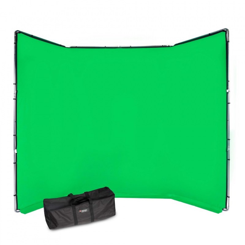 chroma key fx manfrotto 4x2 9m background kit green mlbg4301kg