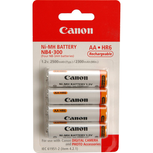 Canon 1171B002 NB4 300 AA NiMH Batteries 1535642002 425697