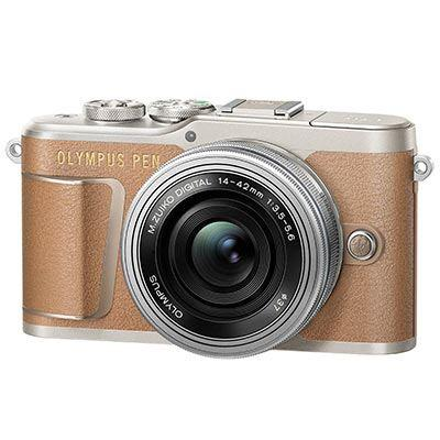 Olympus Pen E-PL9 Digital Camera with 14-42mm Lens - Brown