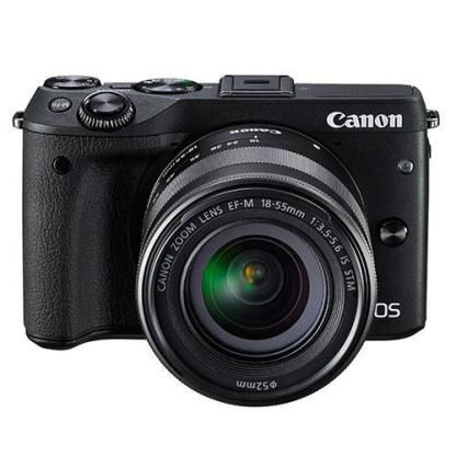 Canon EOS M3 Compact System Camera + Canon 18-55mm IS STM Lens