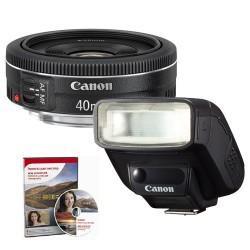 Canon EF 40mm STM Lens + Speedlite 270EXII Portrait Kit