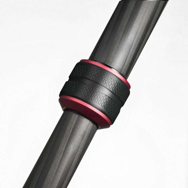 Manfrotto 190 Go! kit CF black 4 Sec w/ Twist Locks & 3 way head
