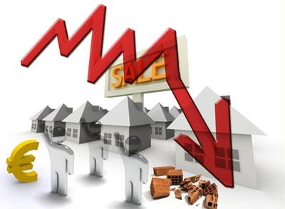 Mercato immobiliare: prezzi in calo.