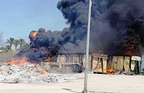 Mazara, ignoti appiccano le fiamme nell'area di raccolta differenziata di via Salvemini