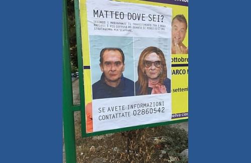 Mafia: poster di Matteo Messina Denaro Drag queen invadono Palermo [FOTO]
