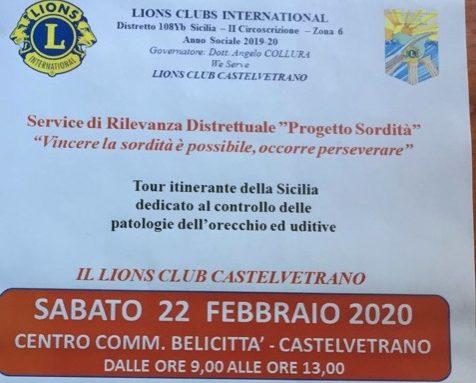Lions Castelvetrano: Controllo gratuito dell'udito