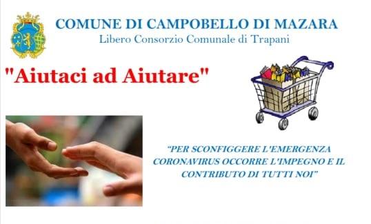 """[Emergenza Coronavirus] Campobello. Al via """"Buoni spesa"""", """"Carrello della solidarietà"""" e """"Dona un pacco"""""""