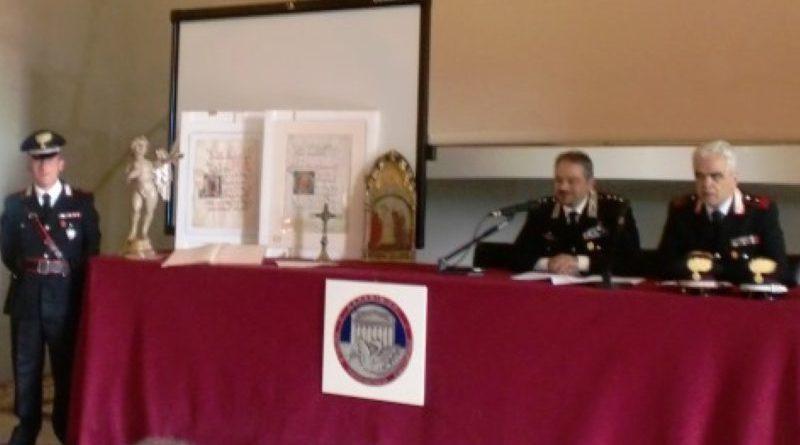 Firenze: I Carabinieri del Nucleo Tutela Patrimonio Culturale di Firenze presentano l'attività operativa relativa all'anno 2019.