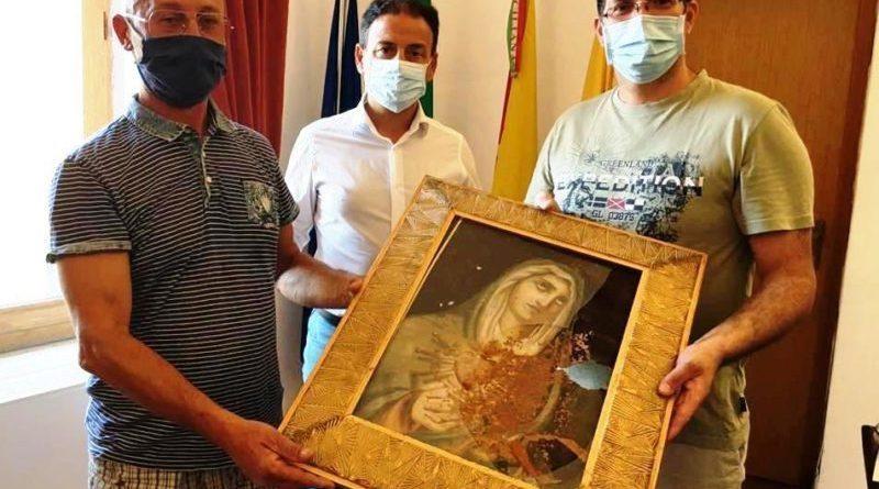 Mazara. Ritrovato il quadro della Madonna Addolorata