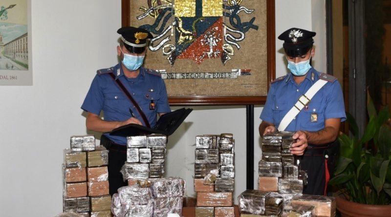 Palermo. Recuperati 85 chili di hashish e 45.000 euro: tre arresti