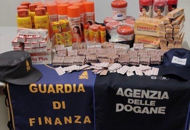 Aeroporto di Bari: sequestrati farmaci e prodotti cosmetici dannosi alla salute