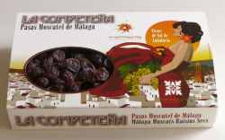 Estuche de pasas de Málaga en racimo de calidad extra