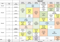 sample schedule
