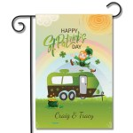 Personalized Holiday Flag Happy St. Patrick's Day Travel Trailer