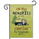 """Personalized RV Camping Flag """"The Best Memories Are Made Camping"""" Travel Trailer"""