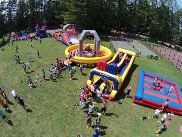 Camp Takajo Carnival 2014 aerial photo