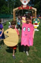 Camp Takajo Carnival arch and camper costumes 2014