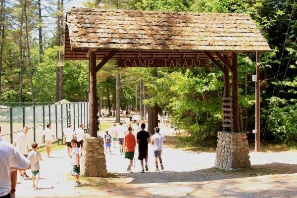 Arrival Day at Camp Takajo in Naples, Maine
