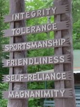 The Arch Ideals at Camp Takajo for Boys in Naples, Maine
