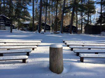 Camp Takajo Senior Quad in Winter Snow