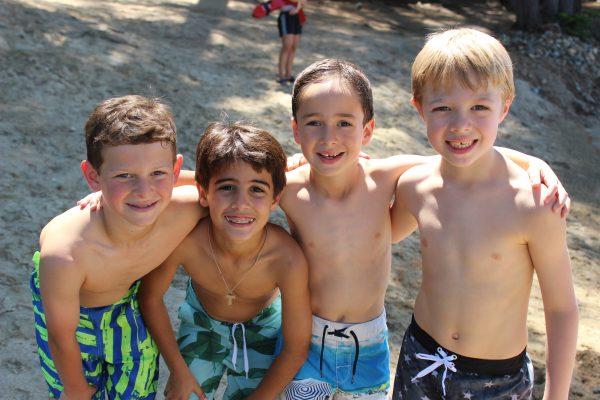 Camp Takajo Boys on the beach