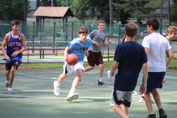 Basketball at Camp Takajo in Naples, Maine, USA
