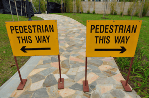confusing pedestrian sign copy