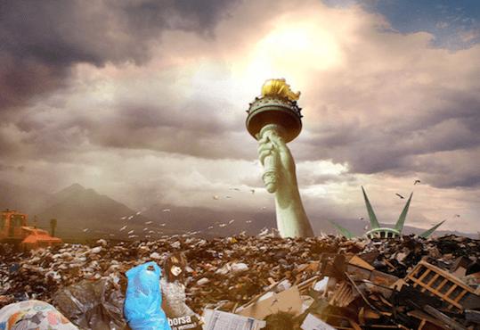 landfill statue liberty