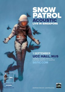 SNOW PATROL - Live in Singapore @ University Cultural Centre (UCC) Hall, NUS