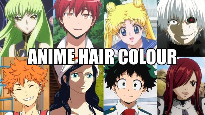anime hair colour