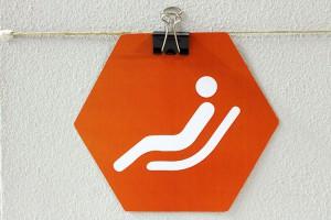 Foto del cartello dell'area relax di Campus Coworking Milano