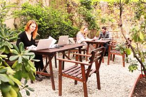 Giardino con coworkers | Campus Coworking Milano