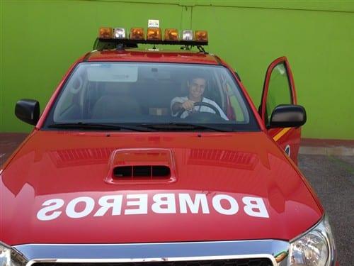 Visita de los bomberos