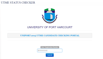 Utme candidates for uniport campus life how to use the utme status checker fandeluxe Gallery
