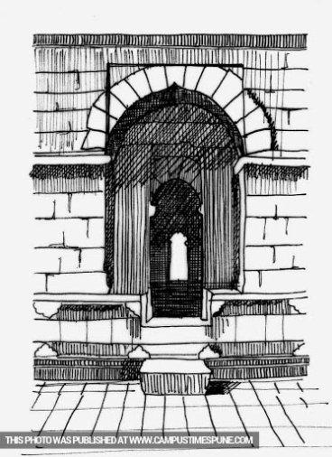 doorway-frame-pencil-sketch
