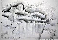 falling-water-pencil-sketch