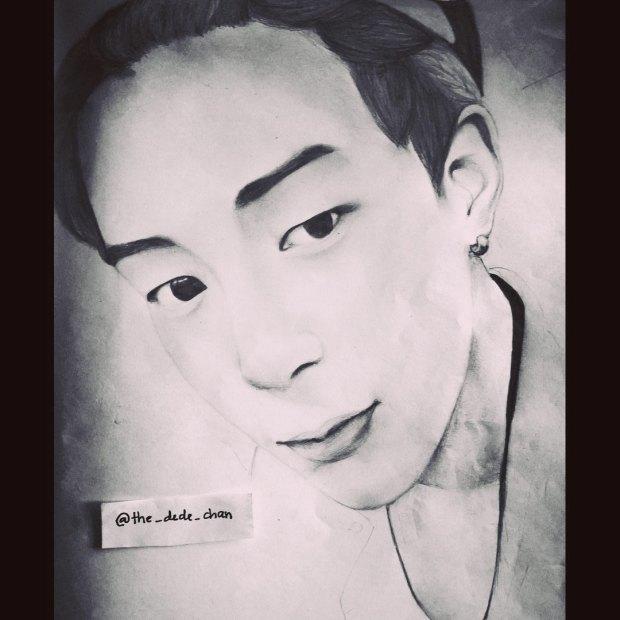 Park Jimmin Pencil Sketch
