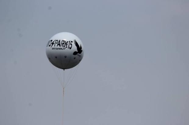 COEP Mindspark 2015 promotion air balloon