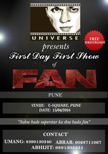 shahrukh khan fans pune charity fan movie 2016