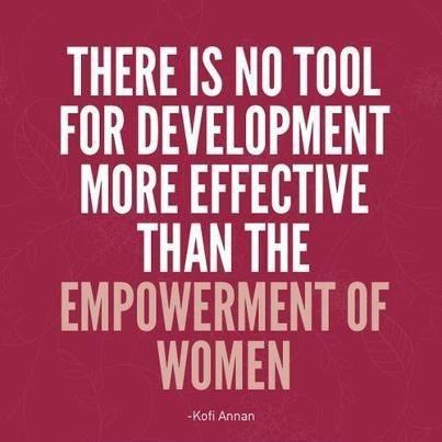 women empowerment kofi annan quote