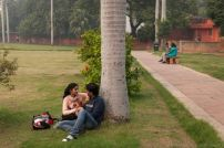 Indian-couple-in-park