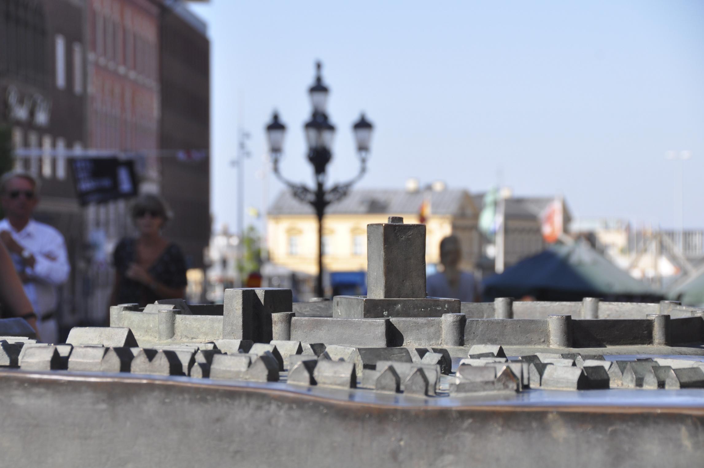 Modell av Helsingborgs stad