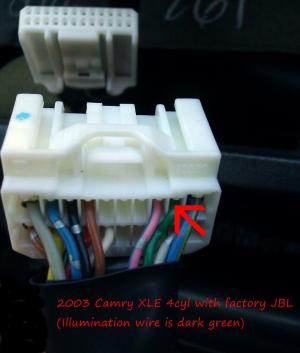 Aftermarket Radio Install Tip  GEN5  2003 Camry utilizing factory JBL amp  Camry Forums