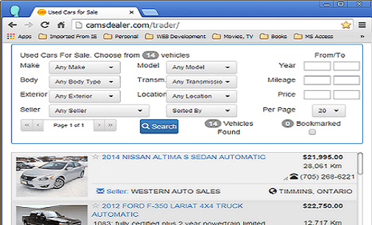 Auto dealer software