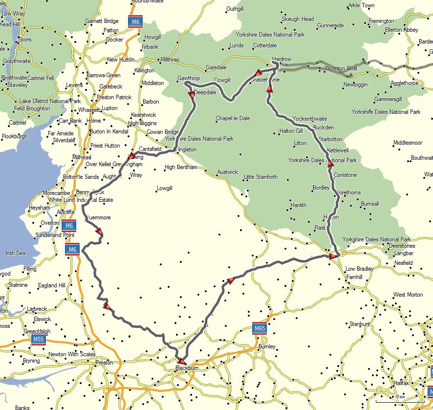 VUK GPS Route map