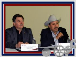 Lic. Cortes con el nuevo presidente de la Canacintra Lic. Alejandro Jara