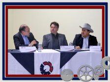 Lic. Nogeira, felicitando al nuevo Presidente de la delegación Ensenada