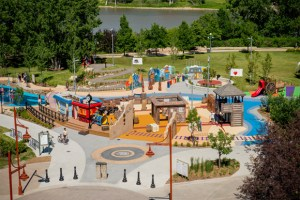 Explore the seven adventure zones at Variety Heritage Adventure Park in The Forks National Historic Site of Canada @ Parks Canada