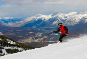 Jasper Alberta ski / sky